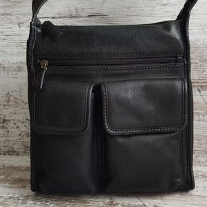 Fossil Bags - Vintage Fossil Black Leather Bag